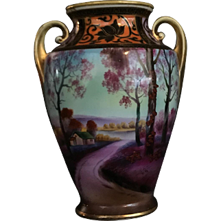 Noritake Hand Painted Vase circa 1910-1930s