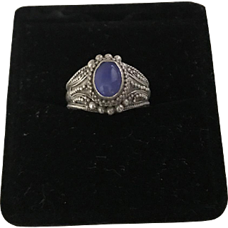 Sterling and Moonstone Ring