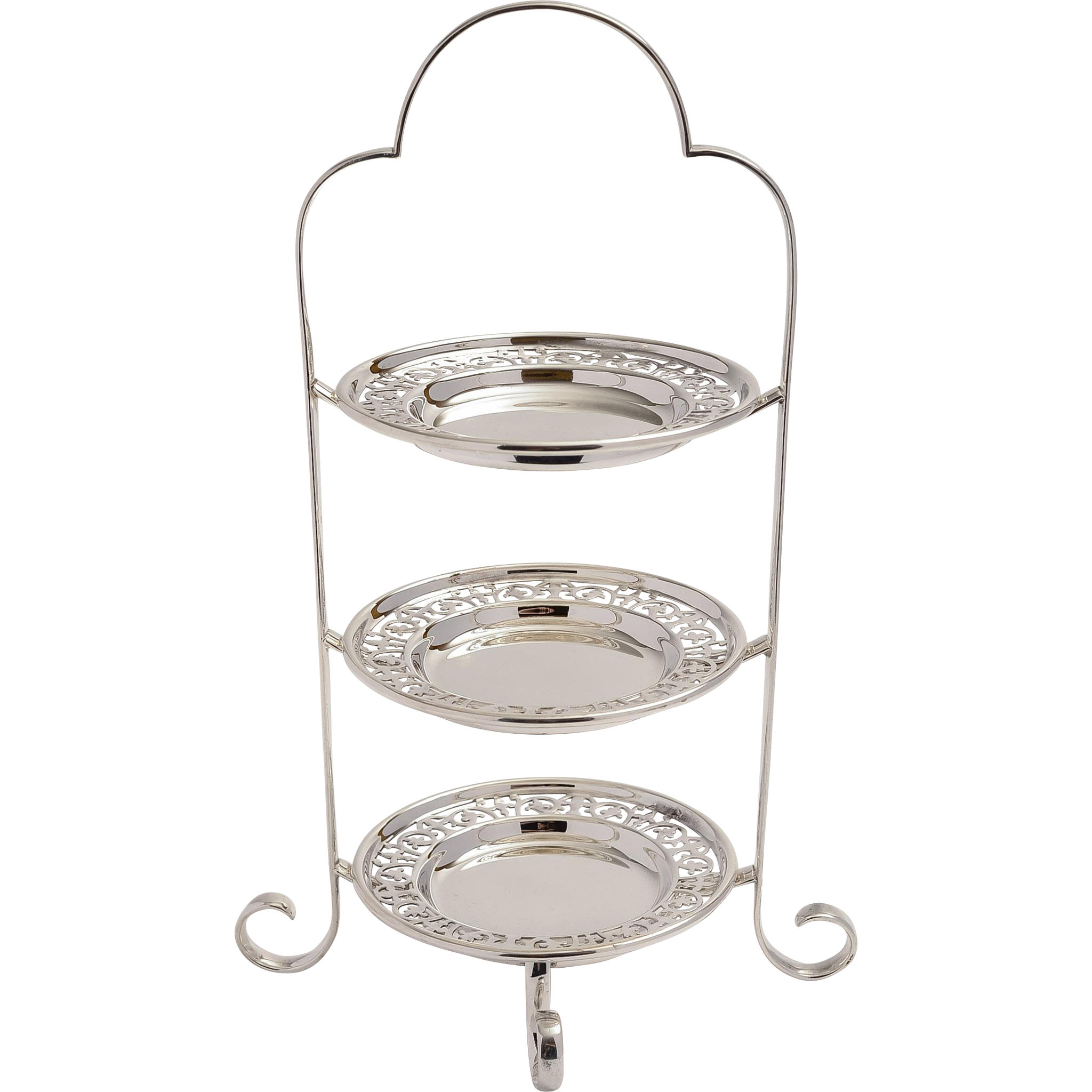 Art Deco Folding Cake Stand : Art Deco Three Tier Silver Plated Cake Stand from ...