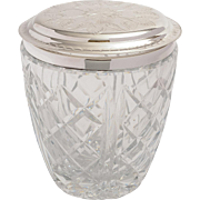 Heavy Cut Glass Biscuit/Cookie Barrel, Circa 1920