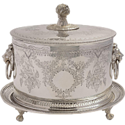 Gorgeous Victorian Oval Silver Plated Biscuit/Cookie Box