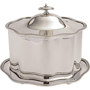 Scottish Silver Plated Serpentine Shaped Biscuit Box/Cookie Box, Circa 1890