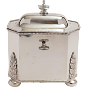 Victorian English Silver Plated Tea Caddy