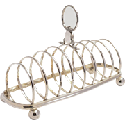 Large silver plated Mappin & Webb toast rack.