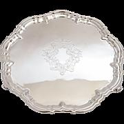 Victorian pie crust silver plated salver