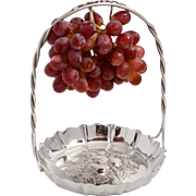 Elkington silver plated grape dish