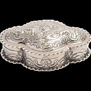 Victorian English sterling silver box