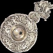 Dutch Silver embossed Tea Strainer
