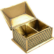 Victorian House Shaped two Division Brass Stamp Box