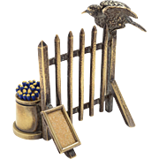 Victorian solid brass novelty Vesta