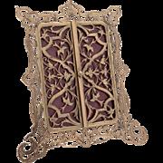 Victorian 2 door brass photo frame