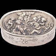 Continental Silver Snuff Box, Circa 1900