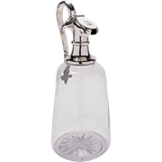 Victorian Glass and Silver Plated Claret Jug, Circa 1880