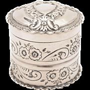 Victorian Silver Vanity Box, Birmingham 1894