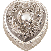 Edwardian Sterling Silver Topped Trinket Box, Birmingham 1901