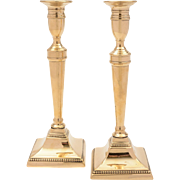 Pair of Georgian Brass Candlesticks, Circa 1820