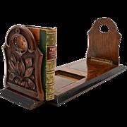 Victorian Figured Walnut Book Rack, Circa 1880