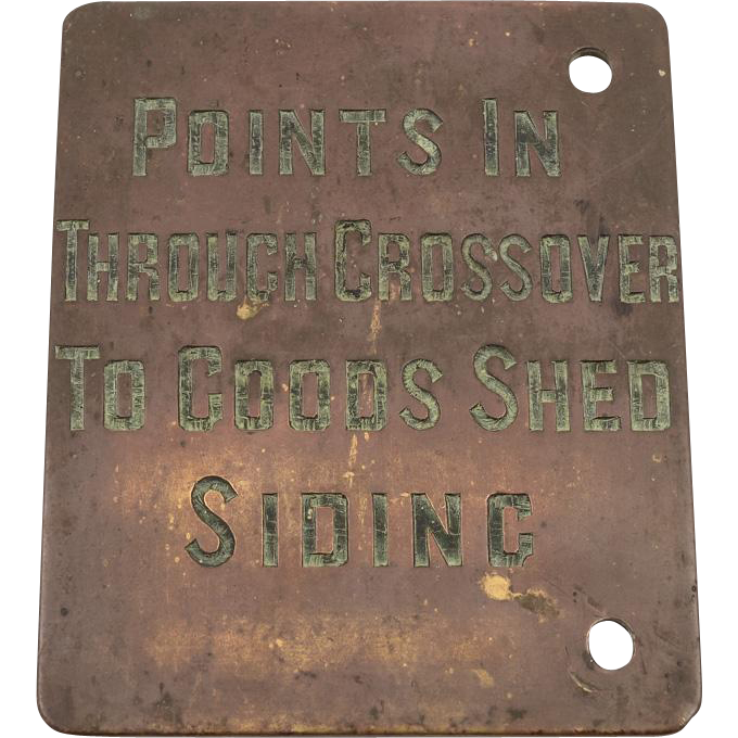 Victorian Brass Railway Signal Box Plaque