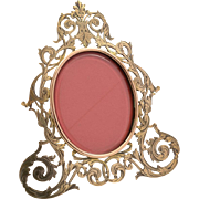 Victorian Brass Photo Frame, Circa 1880