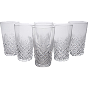 A Set of 6 English Edwardian Cut Glass Tumblers