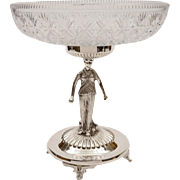 Victorian Cut Glass and Silver Plated Centrepiece