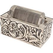 Edwardian Silver Stamp Roller, Chester 1902