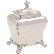 Victorian Sheffield Plated Tea Caddy, Circa 1840