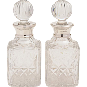 Pair of Vintage Liqueur Decanters, 1996