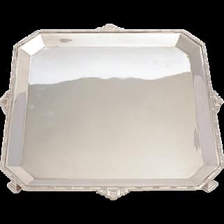 Art Deco Silver Plated Salver, Circa 1925