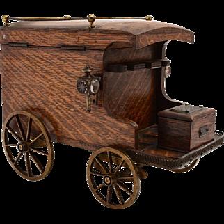 Victorian Oak Smokers Companion Wagon, Circa 1880