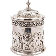 Victorian Elkington Biscuit Barrel/Cookie Jar, 1875