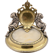 French Brass & Marble Watch Stand, Circa 1890
