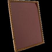 Large Brass Photo Frame, Circa 1930