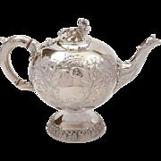 Early Victorian Elkington & Co Tea Pot, 1854