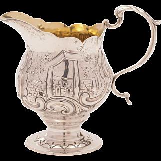 Victorian Silver Cream Jug, Birmingham 1893