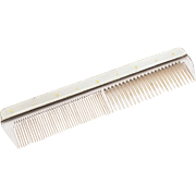 Vintage Silver and Guilloche Enamelled Comb, Birmingham 1956