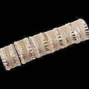Set of 6 Victorian Napkin Rings, Circa 1890