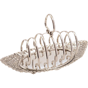 Edwardian 6 Section Toast Rack, Circa 1905