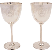 Pair of Victorian Wine Goblets, Circa 1890