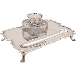 George V Silver Ink Stand, London 1926