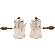 Pair of Cafe Au Lait Pots, Circa 1920
