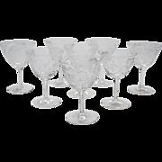 Edwardian Set of 8 Wine Glasses, Circa 1905