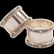 Pair of Silver Napkin Rings, Birmginham 1939