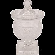 Victorian Glass Preserve Jar, Circa 1890