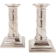 Pair of Small Edwardian Silver Plated Candlesticks, 1902