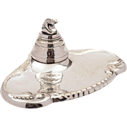 20th Century Silver Plated Ink Stand, Circa 1930