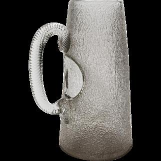 Victorian Crackle Glass Ice Jug, Circa 1890