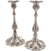 Pair of Victorian Silver Plated Candlesticks, Circa 1880
