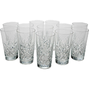 Set of 12 Cut Glass Tumblers, Circa 1920
