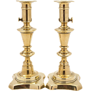 Pair of Rare Victorian Brass Candlesticks, Circa 1880